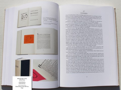 Bibliography of the Arion Press, Arion Press, Sample Book Entry #7