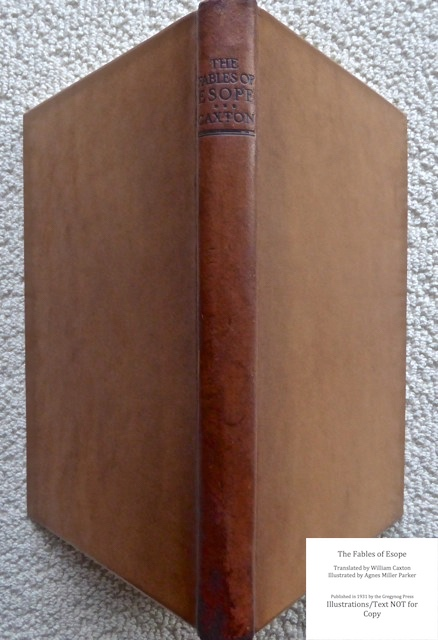 The Fables of Esope, Gregynog Press, Spine and Covers