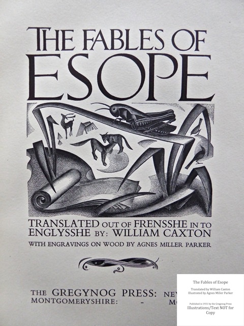 The Fables of Esope, Gregynog Press, Title Page 2