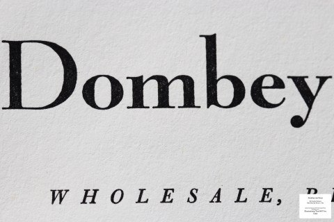 Dombey and Son, Limited Editions Club, Macro of Title Page
