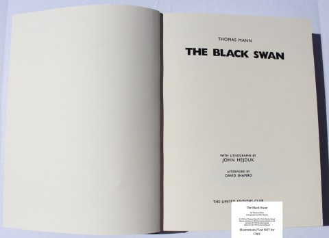 The Black Swan, Limited Editions Club, Title Page