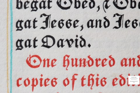 The Book of Ruth, Grabhorn Press, Sample Text #3 Macro