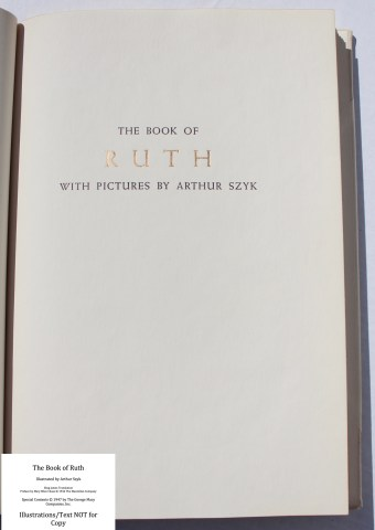 The Book of Ruth, Limited Editions Club, Half-Title