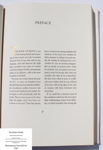 The Book of Ruth, Limited Editions Club, Sample Text #1