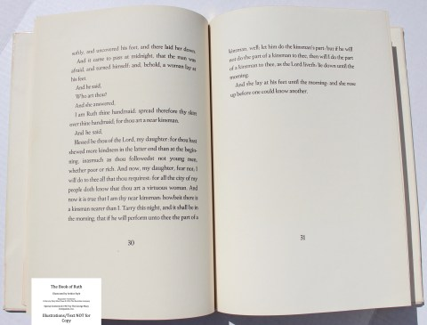 The Book of Ruth, Limited Editions Club, Sample Text #2