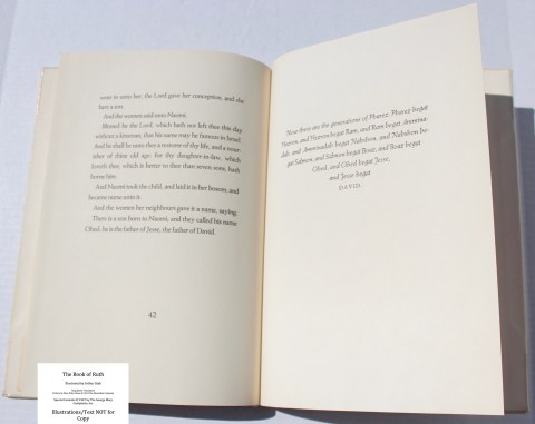 The Book of Ruth, Limited Editions Club, Sample Text #3