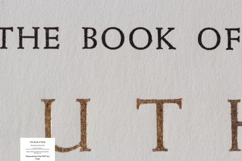 The Book of Ruth, Limited Editions Club, Macro of Half Title Page