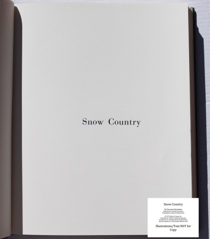Snow Country, Limited Editions Club, Title