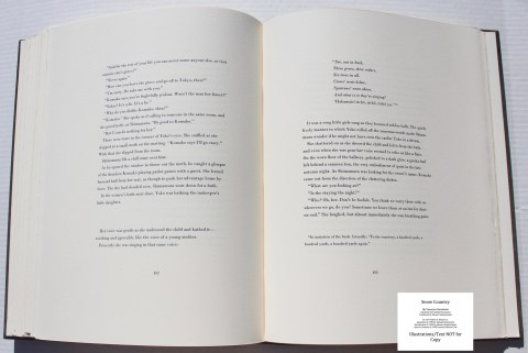 Snow Country, Limited Editions Club, Sample Text #5