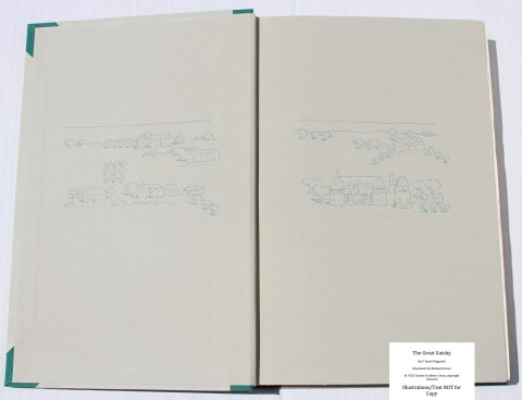 The Great Gatsby, Arion Press, Endpapers