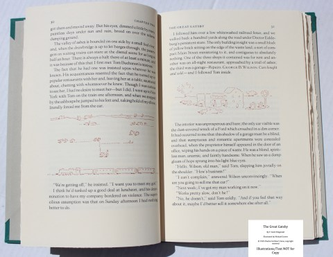 The Great Gatsby, Arion Press, Sample Illustrations #1 with Text