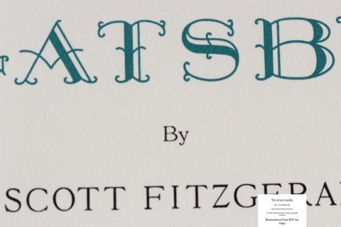 The Great Gatsby, Arion Press, Macro of Title Page