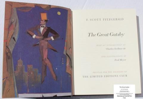 The Great Gatsby, Limited Editions Club, Frontispiece and Title Page