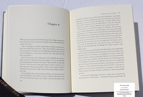 The Great Gatsby, Limited Editions Club, Sample Text #4
