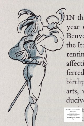 The Life of Benvenuto Cellini, Limited Editions Club, Macro of Sample Illustration #1