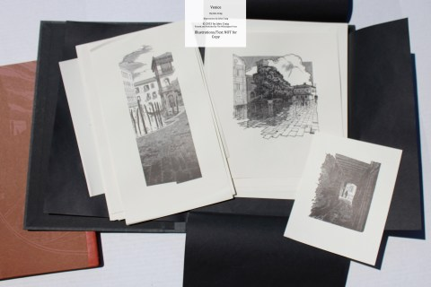 Venice, Whittington Press, 'B' edition - Samples from Suite of Prints