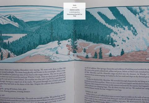 Walls, Quail Press, Sample Illustration #3 - Witches Creek, Yellowstone Park