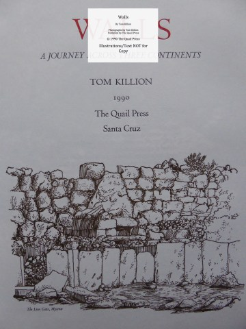 Walls, Quail Press, Title Page