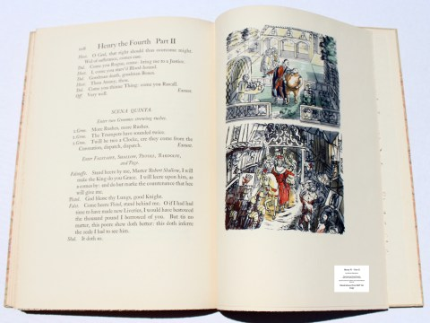 King Henry IV -Part II, Limited Editions Club, Sample Illustration #5 with Text