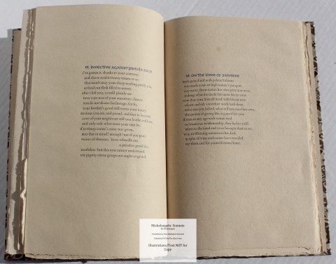 Michelangelo: Sonnets, Allen Press, Sample Text #3