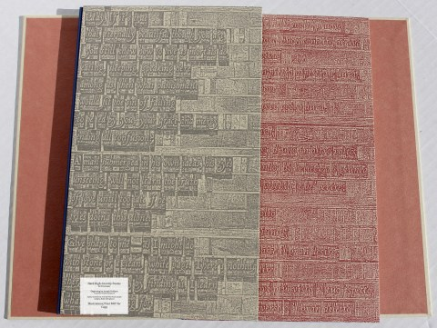 Hard High-Country Poems & The Typographic Legacy of Ludovico degli Arrighi, Peter Koch Printers, Books on Chemise