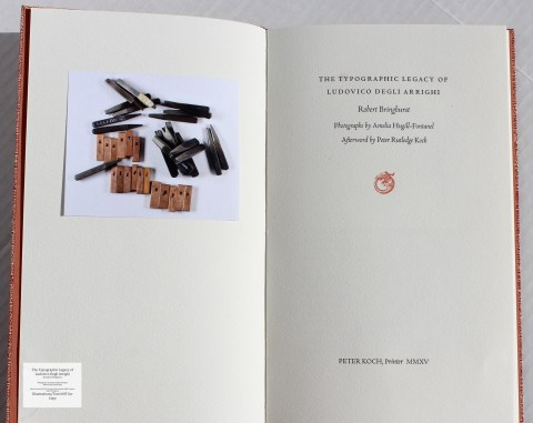 The Typographic Legacy of Ludovico degli Arrighi, Peter Koch Printers, Frontispiece and Title Page
