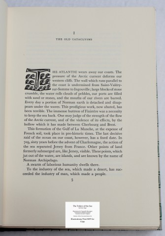 The Toilers of the Sea, Limited Editions Club, Sample Text #3 with Decoration