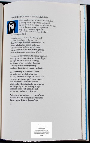 Venus Poems, Shanty Bay Press, Sample Text #3 with Decoration #2