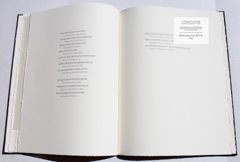 A Tribute to Cavafy, Limited Editions Club, Sample Text #2