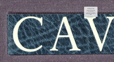 A Tribute to Cavafy, Limited Editions Club, Front Cover Macro