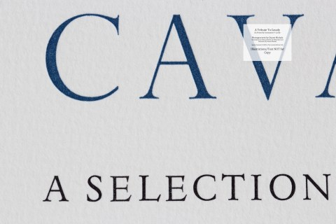 A Tribute to Cavafy, Limited Editions Club, Macro of Title Page