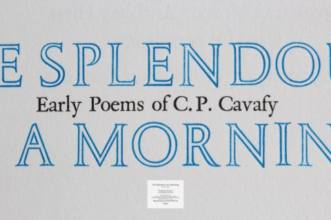 The Splendour of a Morning, Barbarian Press, Macro of Title Page