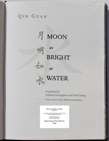 Moon as Bright as Water, Chester River Press, Title Page