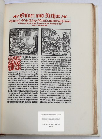 The History of Oliver and Arthur, Riverside Press, Sample Illustration #1 with Text
