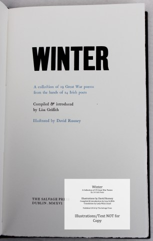 Winter, Salvage Press, Title Page