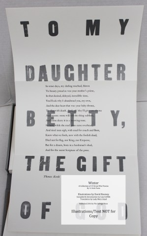 Winter, Salvage Press, Sample Broadside #2 - Thomas Kettle