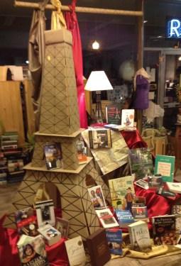 Eiffel Tower Display   Main Street Books   Frostburg, MD