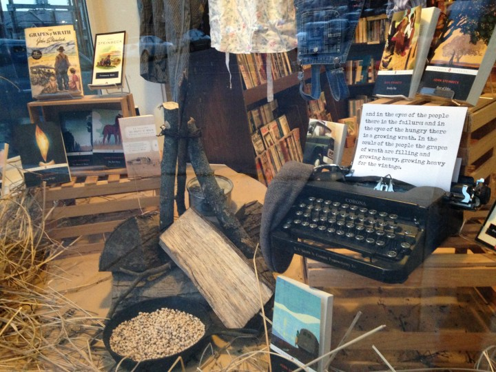 Steinbeck Display 2 | River Lights Bookstore, Dubuque, IA