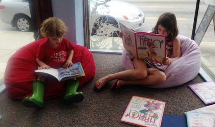 Window Reading Nook at Carmichael's Kids