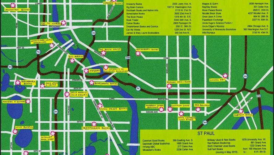 A Twin Cities Map for Indie Bookstore Day
