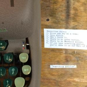 Literati typewriter note