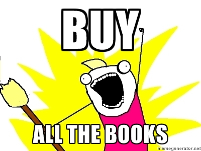 buy all the books meme