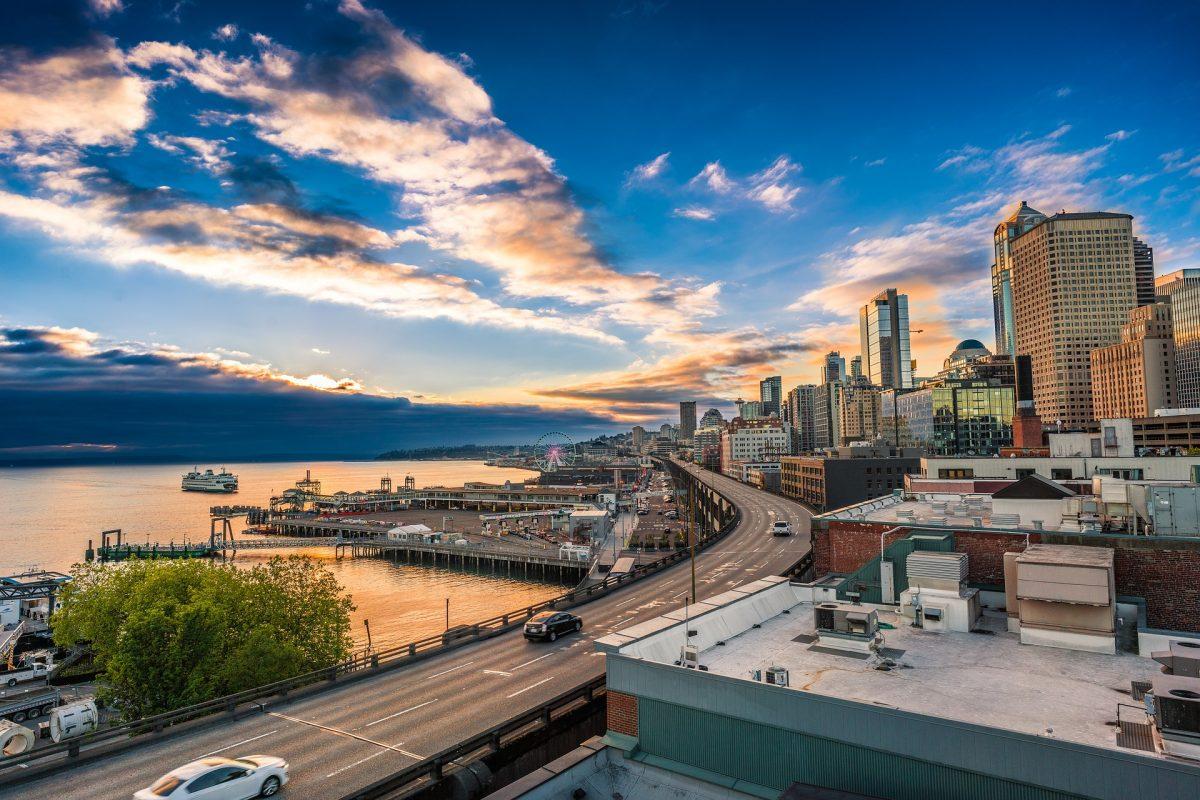 Seattle skyline - Children's books about Seattle and Washington
