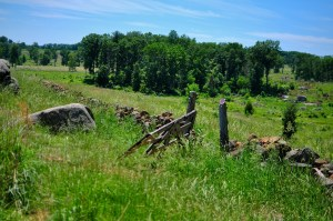the field of the Battle of Gettysburg 1863