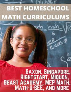 Saxon Math for Homeschool - Singapore Math Online Review - Rightstart Math Online Review - Beast Academy Online Review - MEP Math Online Review - Math u see online review - miquon math online review