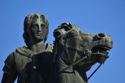 what Alexander the Great looked like, in a statue