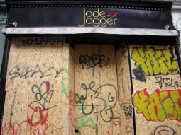 Jade Jager's shop boarded up