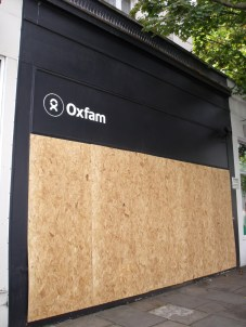 Oxfam shop on Westbourne Grove closed
