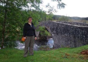Me in front of the bridge