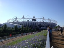 First view of the Olympic Stadium